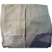 Woven Green Fish Guest Towels