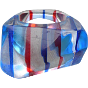 Lucite Patriotic Ring