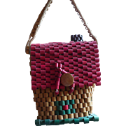 Czech Wooden House Purse
