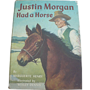 Justin Morgan Had a Horse Book