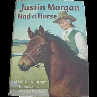 Justin Morgan Had a Horse Book