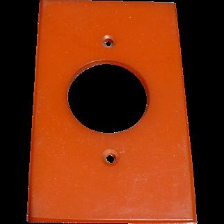 Orange Bakelite Switchplate Cover