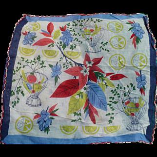 Lemons Fruit Handkerchief