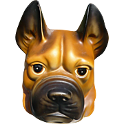Ceramic Boxer Dog Head Vase