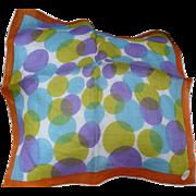 Burmel Linen Circles Handkerchief