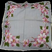 Dogwood Floral Handkerchief