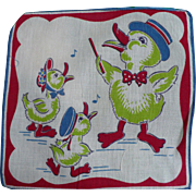 Child's Handkerchief Ducks