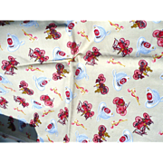 Flannel Firetruck Fabric