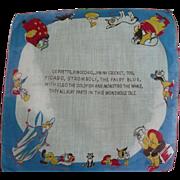 1950's Pinocchio Handkerchief