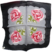 Roses Vintage Handkerchief