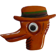 Bakelite Duck Pin