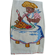 Black Man Embroidered Towel