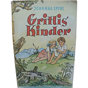 Gritlis Kinder Johanna Spyri Book German