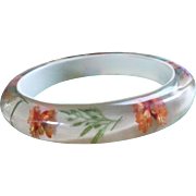 Lucite Floral Bracelet