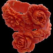 Coral Celluloid Bracelet