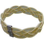 Braided Celluloid Bracelet