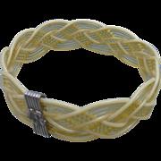 Braided Celluloid Bracelet