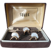 Swank MOP Swordfish Cufflinks Tie Bar