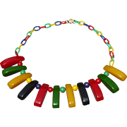 Multicolor Bakelite Necklace