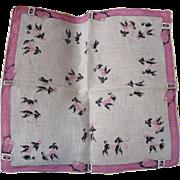 Pink Poodles Handkerchief