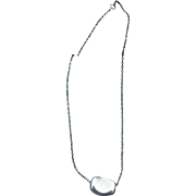 Tiffany Perreti Sterling Bean Necklace