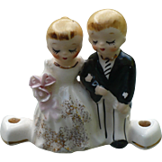 Lefton Bridal Cake Topper Candle Holder