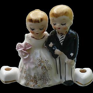 Lefton Bridal Cake Topper Candle Holder