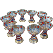 Bohemian Painted Glasses