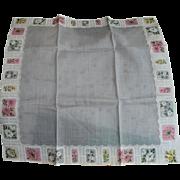 Carol Stanley Floral Handkerchief