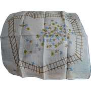 Floral Fenced Handkerchief