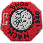 1940 Chenille Patch High School Machine Shop
