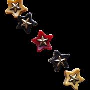 Bakelite Brass Star Buttons
