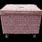 Mid Century  Ottoman Storage Box