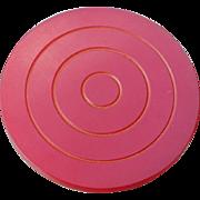 Large Bakelite Target Button