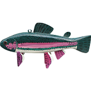 Painted Wood Fish Decoy