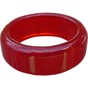 Red Bakelite Ring