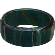 Blue Bakelite Band Ring