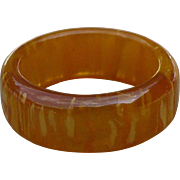 Yellow Bakelite Band Ring