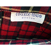 Collegetown 1950's Plaid Kilt