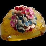 Applejuice Bakelite Floral Hinge Bracelet