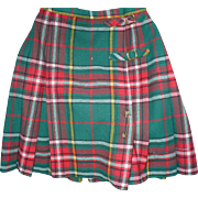 Green Plaid Kilt Skirt