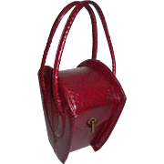 Red Crocodile Purse