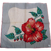 Red Hibiscus Handkerchief
