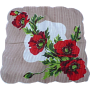 Poppies Handkerchief