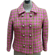 Ladies Check Wool Suit 1960's