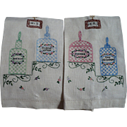 Vanity Embroidered Towels