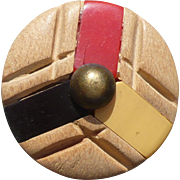 Wood Bakelite Button