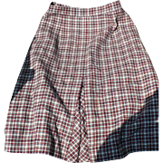 Pendleton Check Skirt
