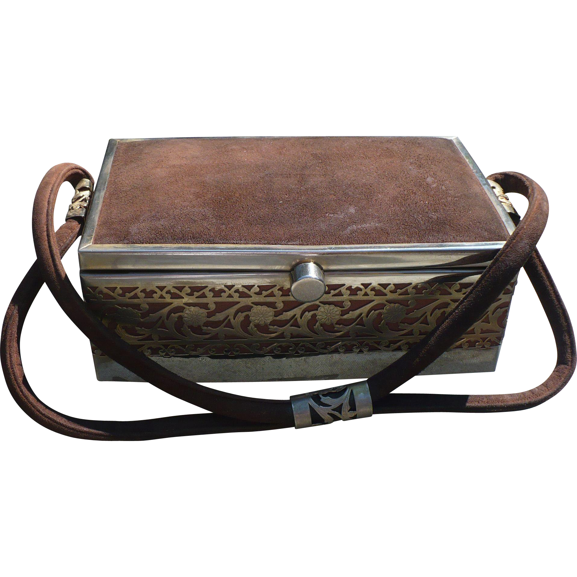 Tyrolean Suede Metal Purse