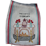 Coffee Embroidered Towel